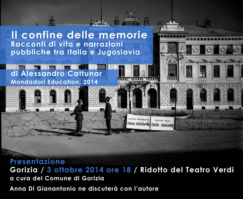 Flyer presentazione Il confine delle memorie