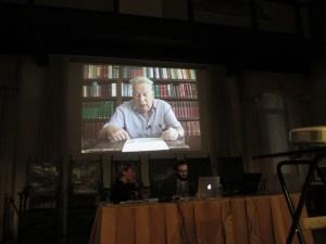 Portogruaro - Sala del Consiglio comunale - Alessandro Cattunar e l'Assessore alla cultura Maria Teresa Ret
